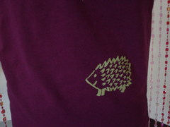 hedgehog shirt closeup.JPG