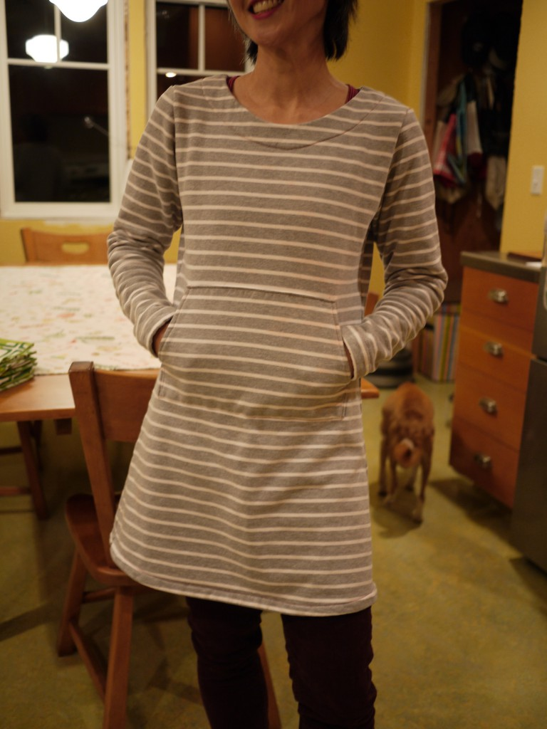 striped sweatshirt tunic